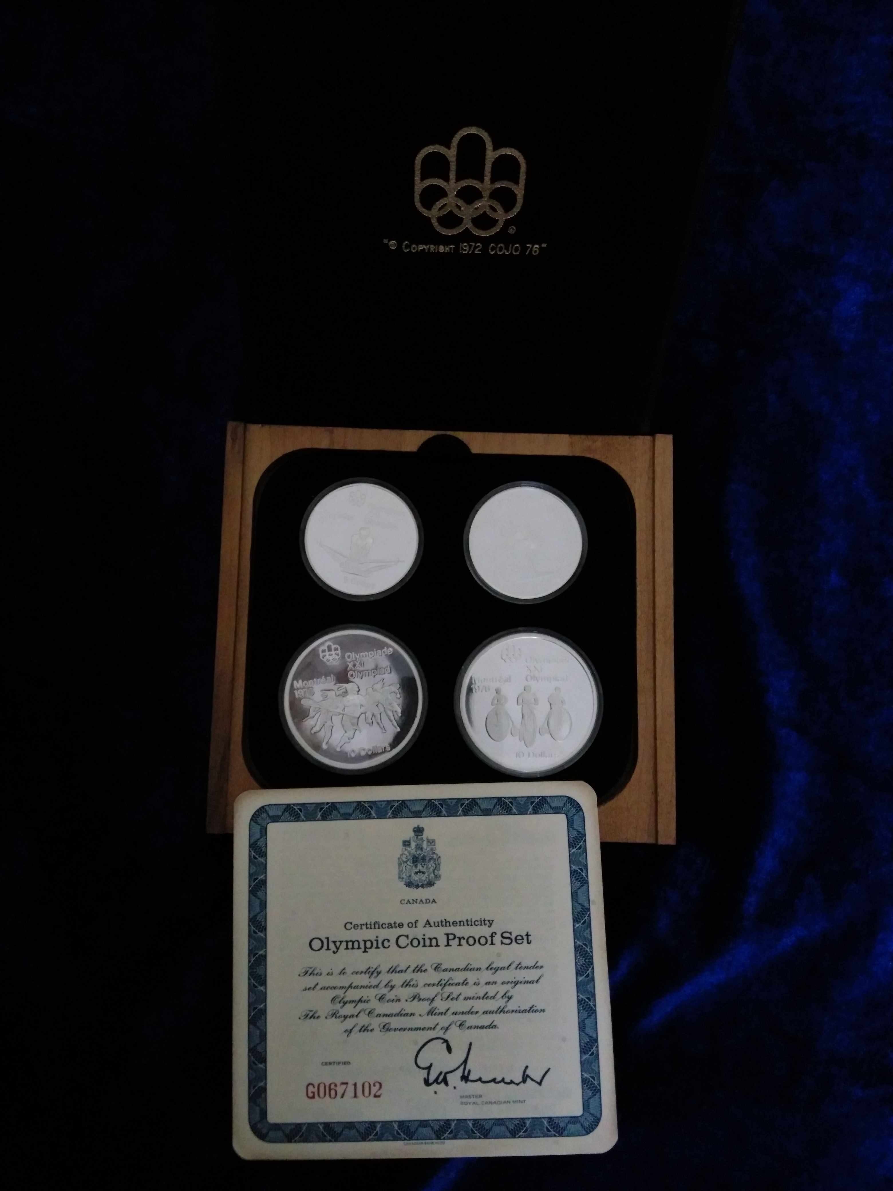 Canada Silver Proof Set Montreal Olympics 1976