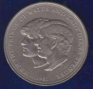 Charles Diana Royal Wedding 25 Pence UK