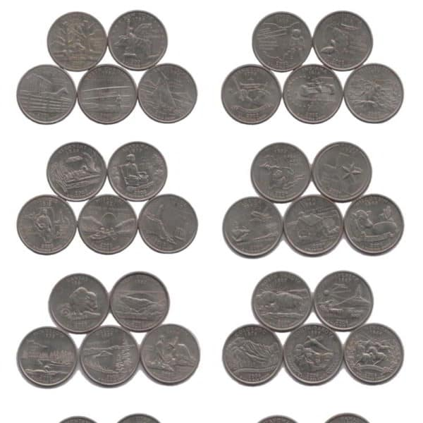 US 50 State Quarters 50 FULL SET @ Coins and Stamps