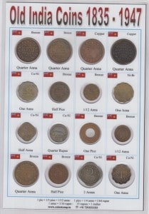 British India 16 Different Coins from 1835 @ coinstamp.in
