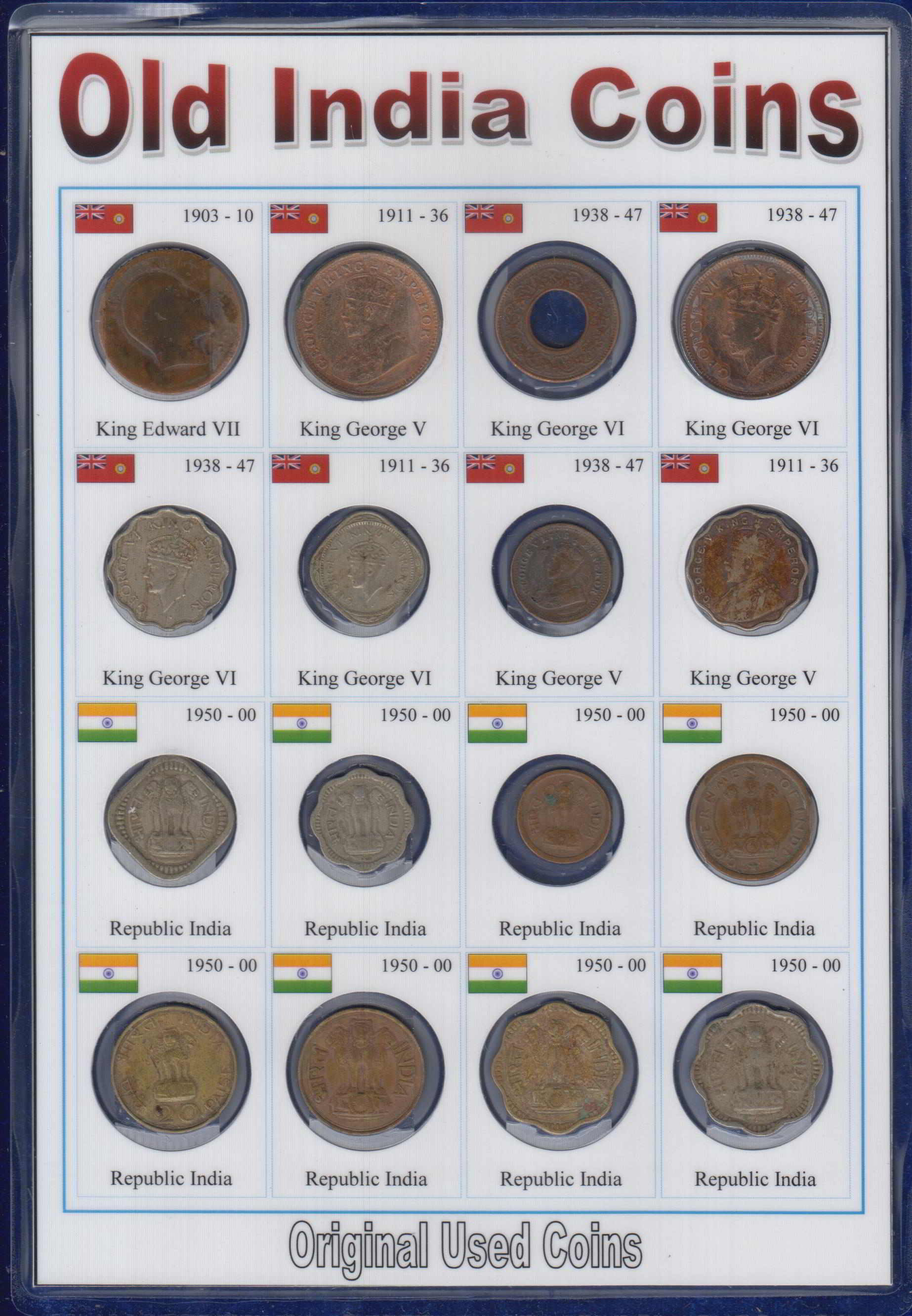 Old Indian Coins Bristish India Coins Republic India