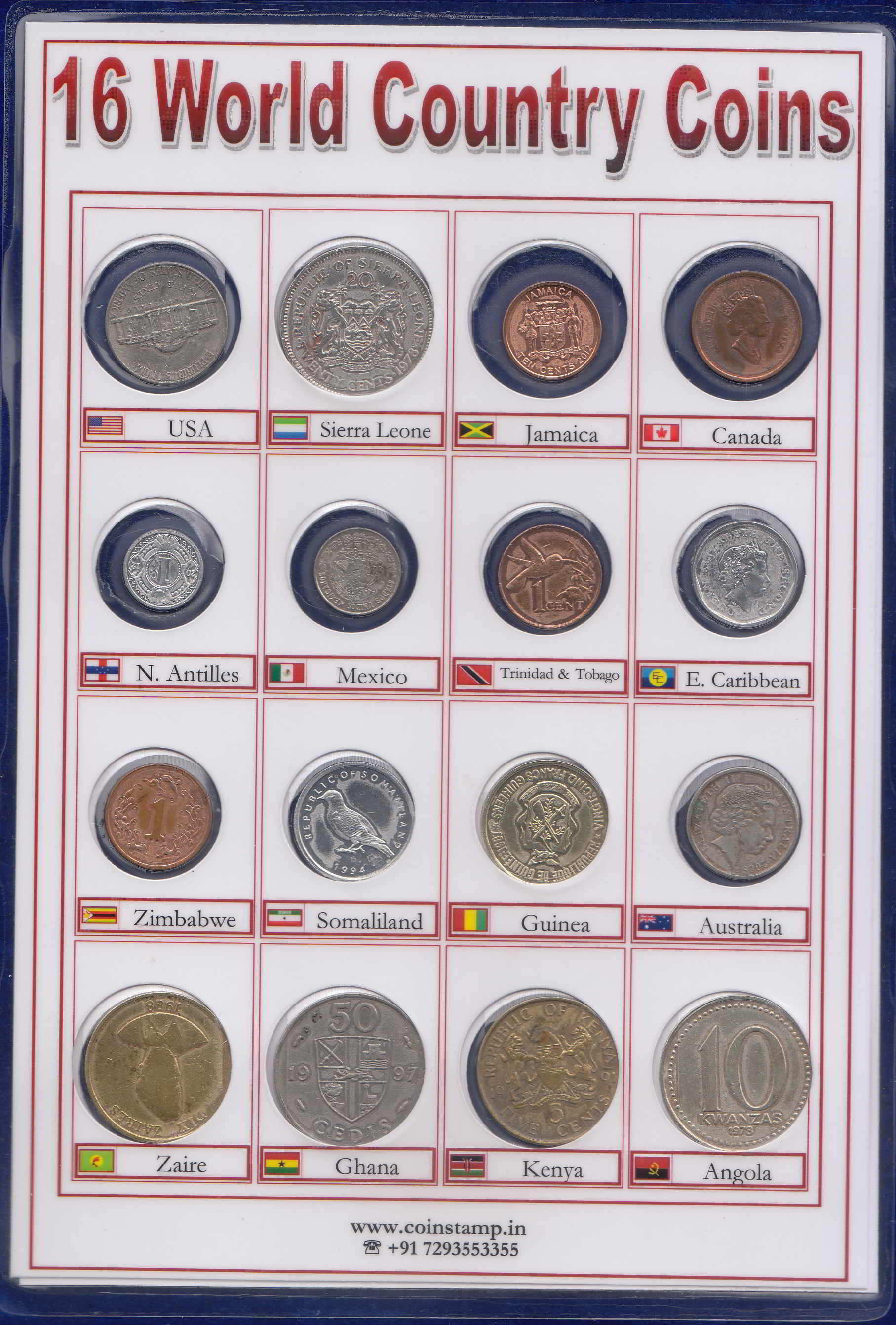 World Coins 16 Different Countries