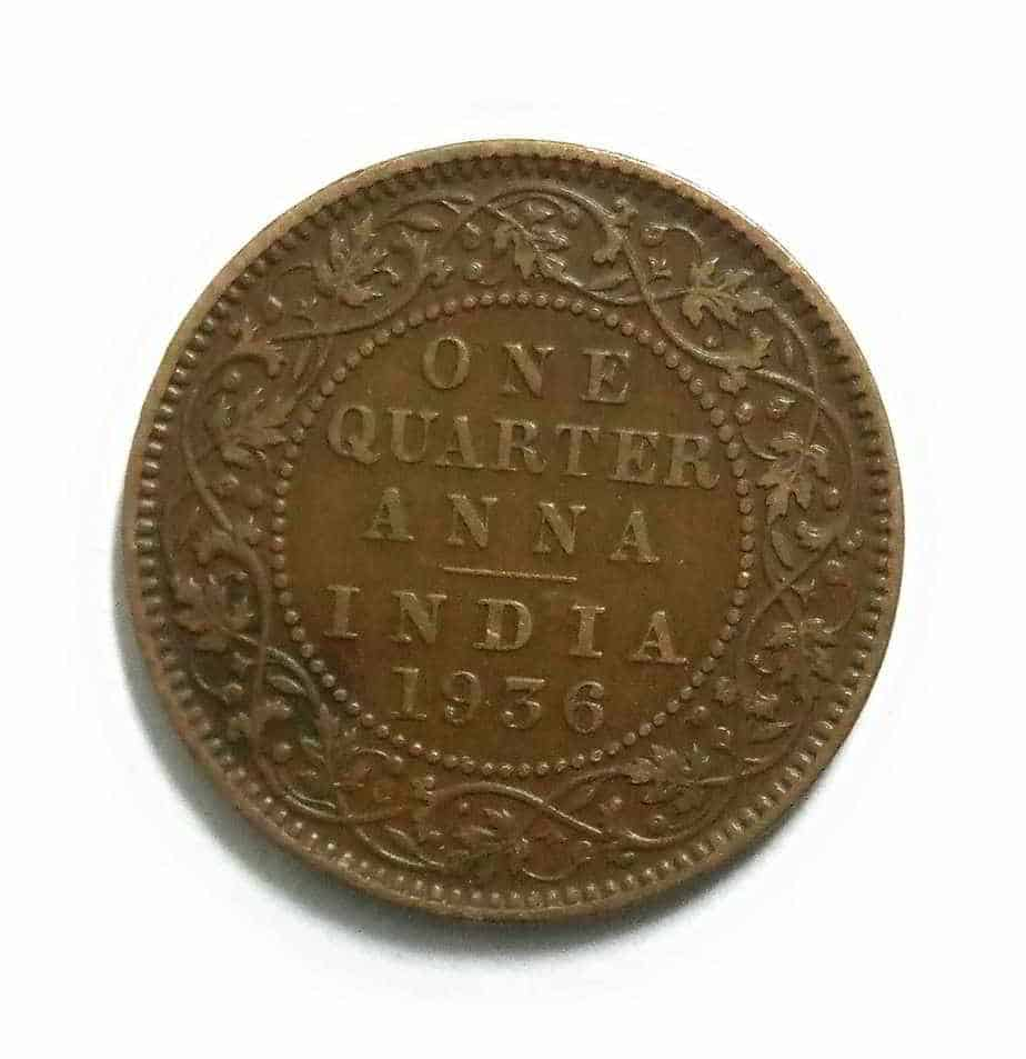 old indian coin anna