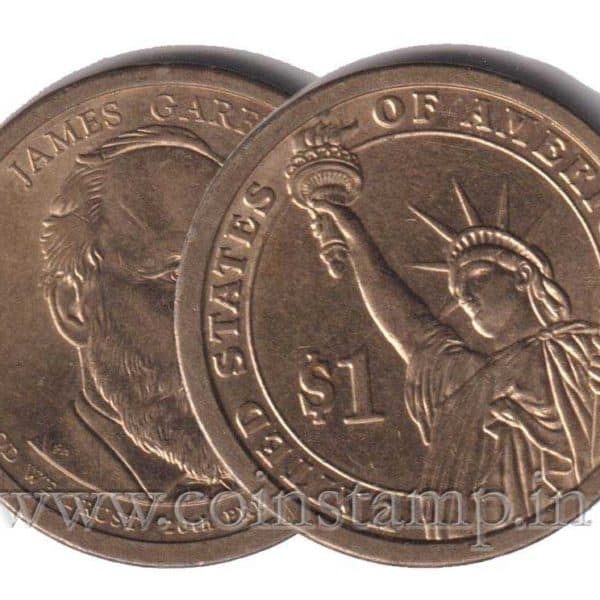 US Presidential Dollar James Garfield @ Coins and Stamps
