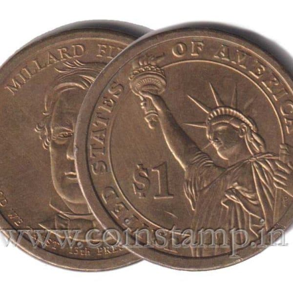 US Presidential Dollar Millard Fillmore @ Coins and Stamps