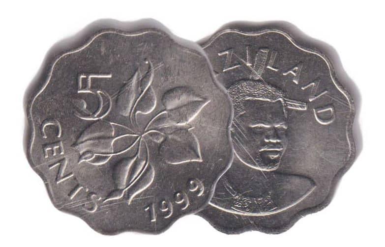Leopard cat animal wildlife coin 1978 Guyana 5 cents