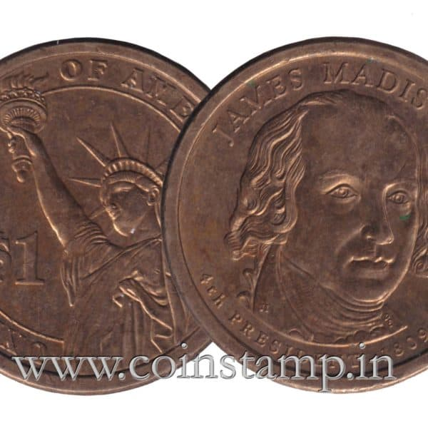 US Presidential Dollar James Madison @ Coins and Stamps