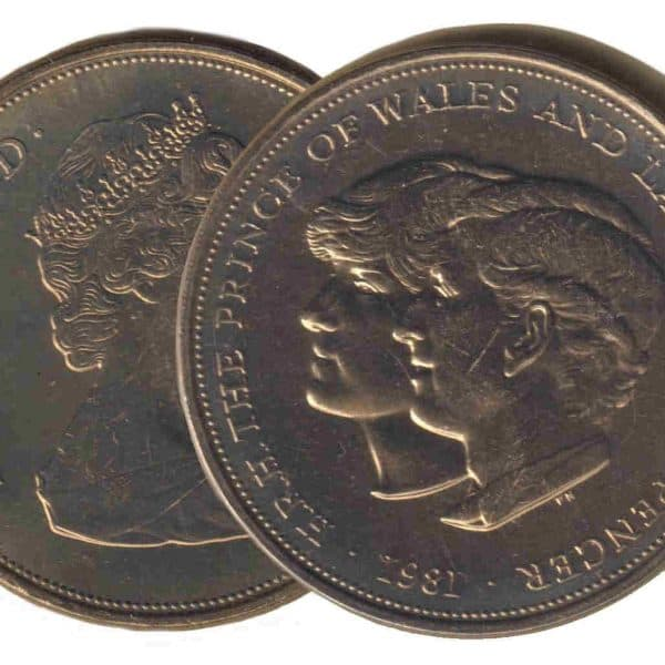 Charles Diana Royal Wedding 25 Pence UK 1981 @ Coins and Stamps