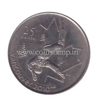 Canada 25 Cents Vancouver 2010 Olympic Games – Freestyle Skiing @coins and stamps