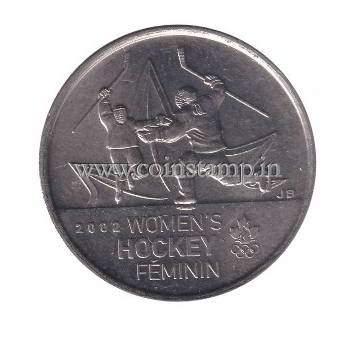 Canada 25 Cents Women's hockey gold medal, Salt Lake City 2002 @coins and stamps