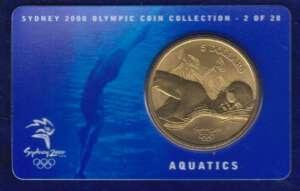 Australia 5 Dollar - Sydney 2000 Olympics - Aquatics