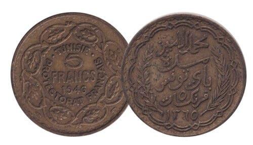 French Tunisia 5 Francs