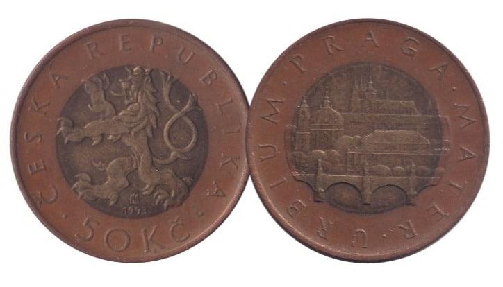 Czech Republic 50 Korun Bimetal Coin @ Coins and Stamps