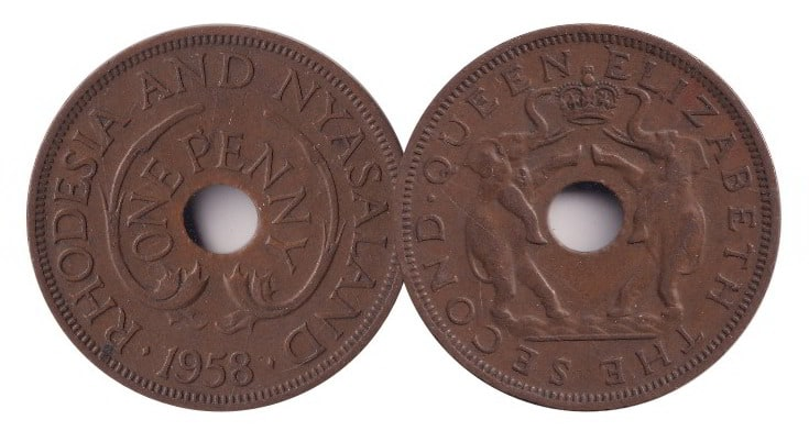 Rhodesia and Nyasaland Penny @ Coins and Stamps