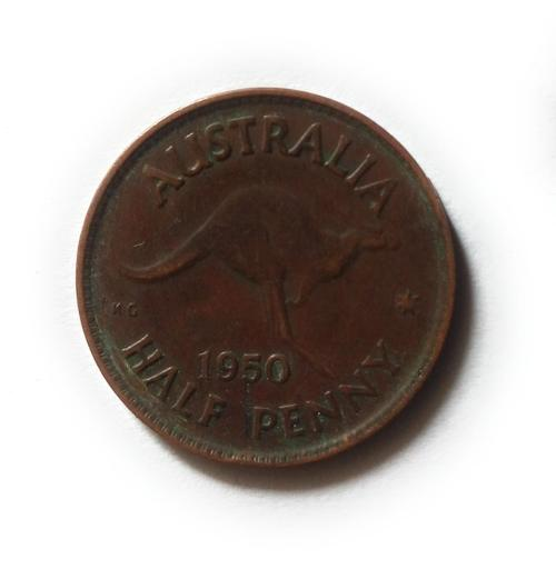 Australia Half Penny King George 6 Without IND:IMP