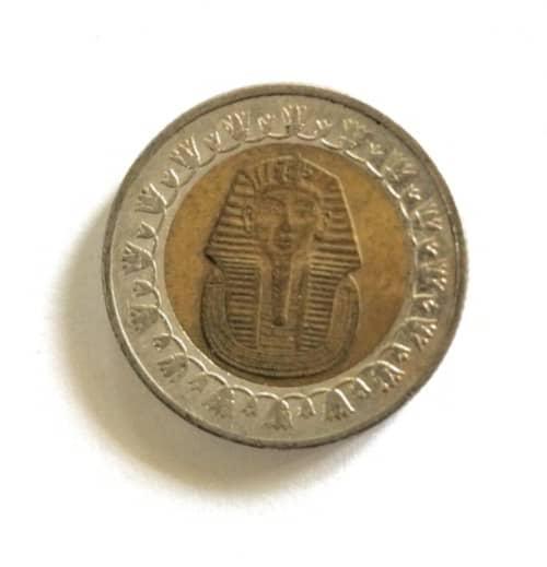 Egypt Pound Mummy Bimetal Coin