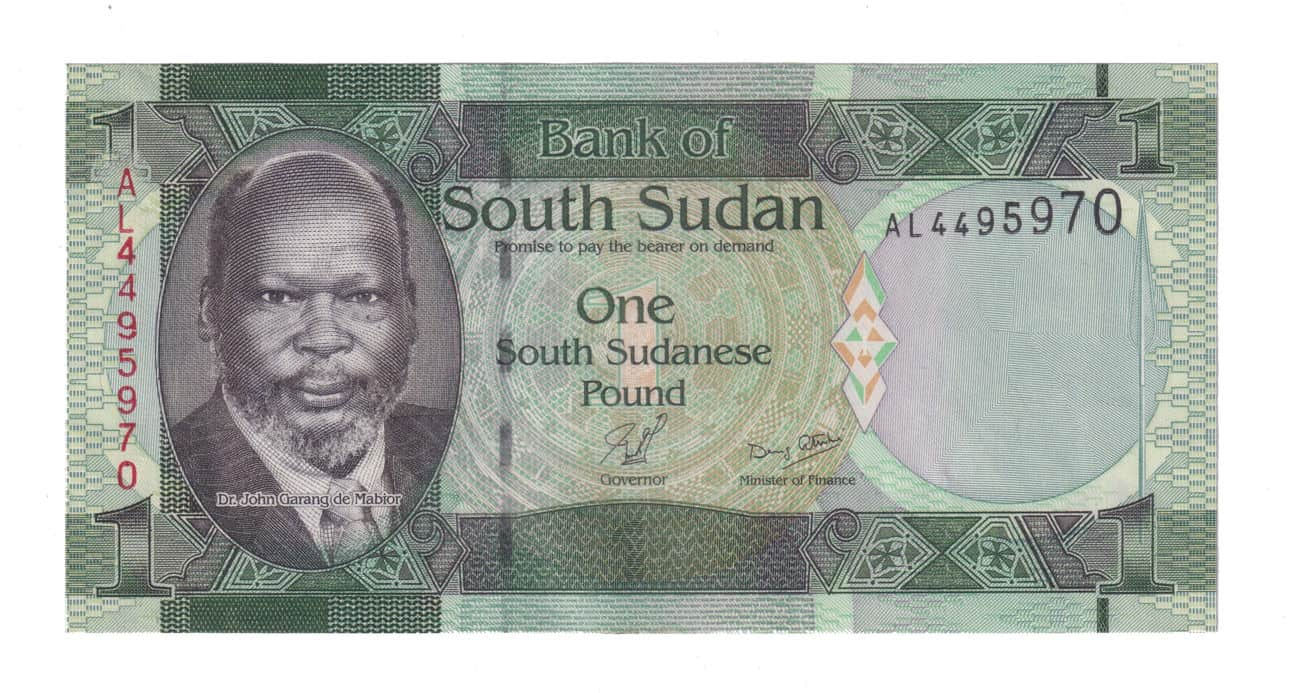 South Sudan 1 Pound Dr John Garang Currency @ Coins and Stamps