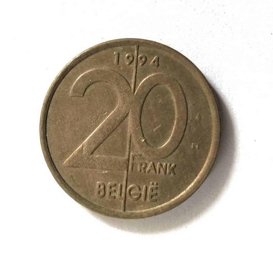 Belgium 20 Francs Albert 2 Dutch Text @ Coins and Stamps