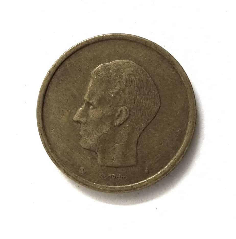 Belgium 20 Francs Baudouin I Dutch Text 1980 - 1993