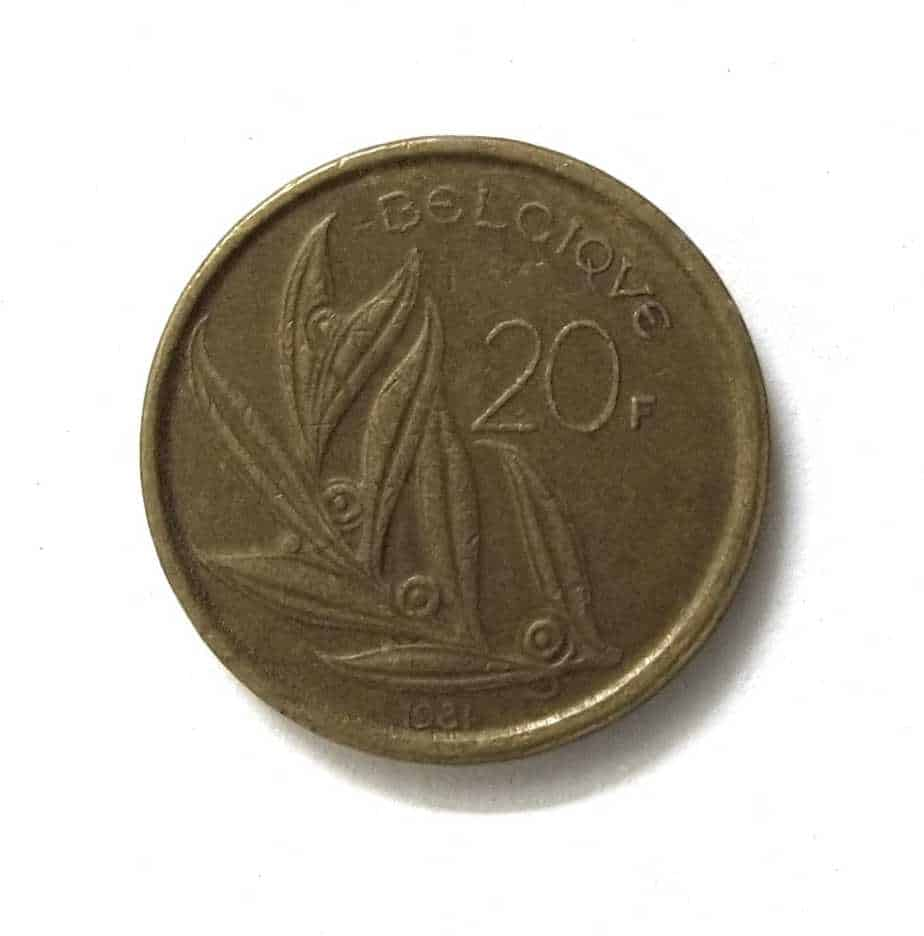 Belgium 20 Francs Baudouin I French Text 1980 - 1993 @ Coins and Stamps