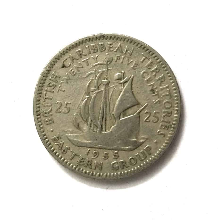 East Caribbean Teritories 25 Cents 1955 - 1965 @ Coins and Stamps