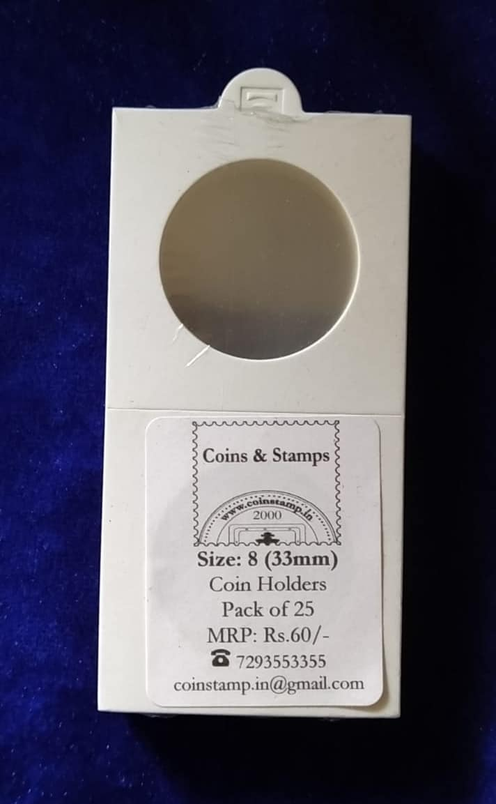 Coin Holders Size 8 33mm @ Coins and Stamps