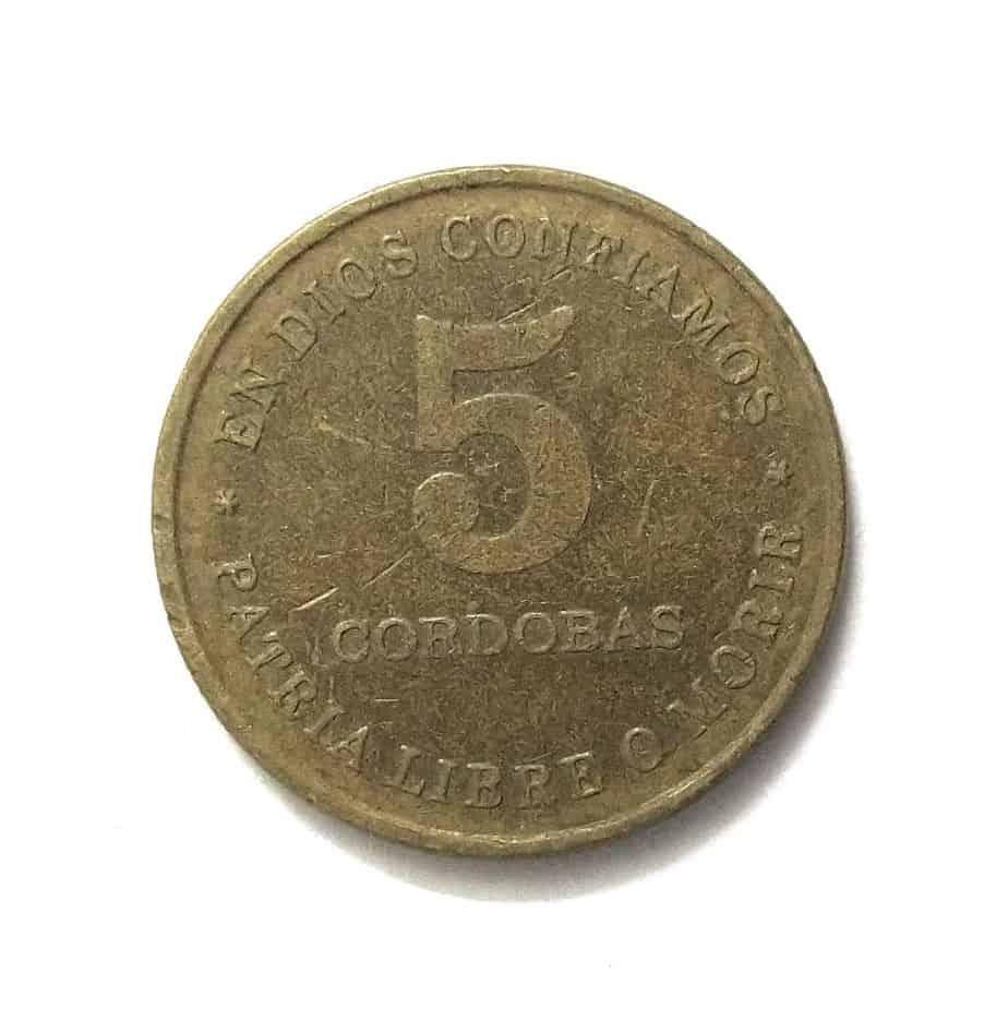 Nicaragua 5 Cordobas 1987 @ Coins and Stamps