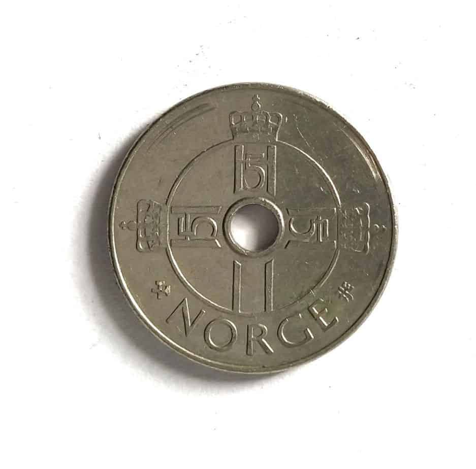 Norway Krone King Harald V Hole Coin